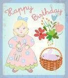 Uitstekende kaart Gelukkige Verjaardag Royalty-vrije Stock Afbeelding