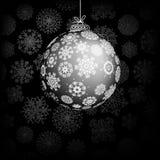 Uitstekende kaart met de bal van Kerstmis. + EPS8 Stock Fotografie