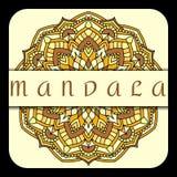 Uitstekende kaart met mandalapatroon en ornament Royalty-vrije Stock Fotografie