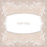 Uitstekende kaart met plaats voor uw tekst vector illustratie