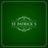 Uitstekende kaart St Patrick Dag Met de tekst Royalty-vrije Stock Foto