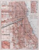 Uitstekende kaart van Chicago Stock Fotografie