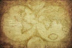 Uitstekende kaart van de wereld Stock Foto