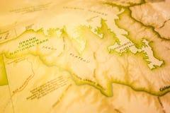 Uitstekende kaart van grote nationale park en omgeving Royalty-vrije Stock Foto