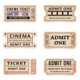 Uitstekende kaartjes en coupons stock foto