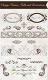 Uitstekende Kaders, Franjes en Decoratie Royalty-vrije Stock Afbeeldingen