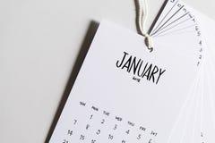 Uitstekende kalender met de hand gemaakte 2018 Royalty-vrije Stock Afbeelding