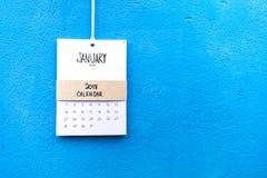 Uitstekende kalender met de hand gemaakte 2018 Royalty-vrije Stock Fotografie