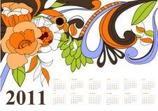 Uitstekende kalender voor 2011 Royalty-vrije Stock Foto's