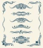Uitstekende kalligrafische bloemenontwerp vectorelementen vector illustratie