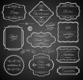 Uitstekende Kalligrafische Kaders met Ontwerpelementen Stock Afbeelding