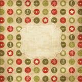 Uitstekende Kerstkaart Stock Foto