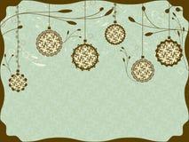 Uitstekende Kerstkaart Royalty-vrije Stock Foto