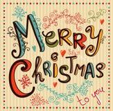 Uitstekende Kerstkaart Stock Afbeelding