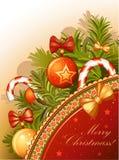 Uitstekende Kerstkaart Royalty-vrije Stock Afbeeldingen