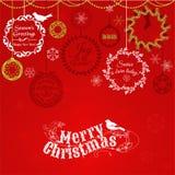 Uitstekende Kerstkaart Stock Foto's