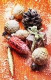 Uitstekende Kerstkaarten Stock Foto's