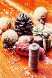 Uitstekende Kerstkaarten Royalty-vrije Stock Foto's