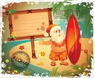 Uitstekende Kerstman Royalty-vrije Stock Afbeeldingen