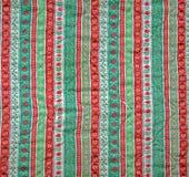 Uitstekende Kerstmis van de textuurstof. Royalty-vrije Stock Fotografie