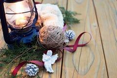 Uitstekende Kerstmisachtergrond Royalty-vrije Stock Foto