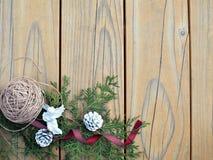 Uitstekende Kerstmisachtergrond Royalty-vrije Stock Foto's