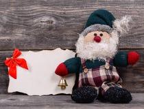 Uitstekende Kerstmisachtergrond stock foto