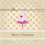Uitstekende Kerstmisachtergrond Stock Afbeeldingen