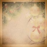 Uitstekende Kerstmisachtergrond Royalty-vrije Stock Afbeelding