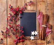 Uitstekende Kerstmisachtergrond Royalty-vrije Stock Afbeeldingen