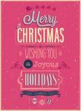 Uitstekende Kerstmisaffiche. Royalty-vrije Stock Foto
