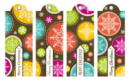 Uitstekende Kerstmisetiketten met tekst, vector vector illustratie
