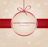 Uitstekende Kerstmiskaart Royalty-vrije Stock Afbeelding