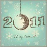 Uitstekende Kerstmiskaart Stock Fotografie
