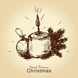Uitstekende Kerstmiskaart Royalty-vrije Stock Fotografie