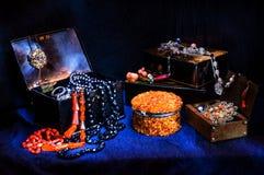 Uitstekende kisten royalty-vrije stock afbeelding