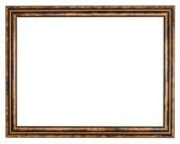 Uitstekende klassieke bruine houten omlijsting Stock Fotografie