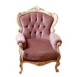 Uitstekende klassieke die stoel op wit wordt geïsoleerd Royalty-vrije Stock Foto