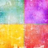 Uitstekende kleurenvierkanten Stock Foto's