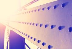 Uitstekende kleurrijke abstracte achtergrond van staalbouw met Royalty-vrije Stock Foto