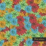 Uitstekende kleurrijke bloemenachtergrond Stock Illustratie