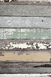 Uitstekende kleurrijke houten Stock Foto's