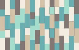 Uitstekende kleurrijke houten muurachtergrond Stock Fotografie