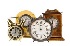 Uitstekende klokken bij twaalf Royalty-vrije Stock Foto