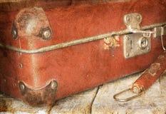 Uitstekende koffer Stock Afbeeldingen