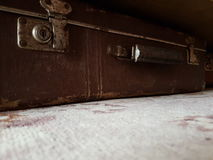 Uitstekende koffer Royalty-vrije Stock Foto's