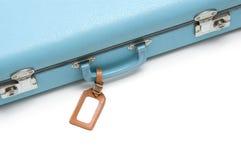 Uitstekende koffer met markering Royalty-vrije Stock Afbeeldingen