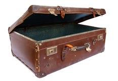Uitstekende Koffer (met Weg) Stock Fotografie
