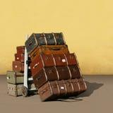 Uitstekende Koffers Stock Afbeeldingen