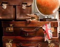 Uitstekende koffers Stock Afbeelding